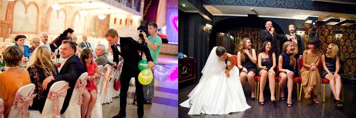 Размещение гостей и знакомство на свадьбе