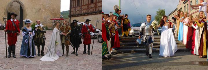 Свадьба в замке в средневековом стиле