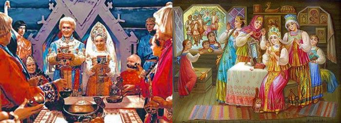 Старорусское свадебное застолье