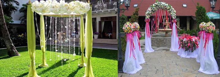 Арки на свадьбу самодельные