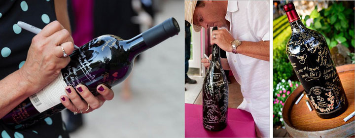 Пожелания молодоженам на бутылках