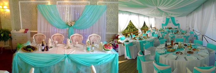 Оформление свадьбы в мятном цвете