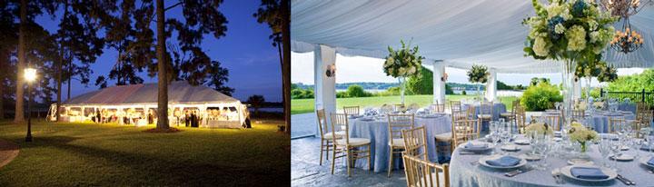 Варианты свадеб на природе в шатре