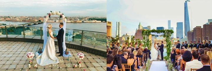 Солодожены и свадьба на крыше