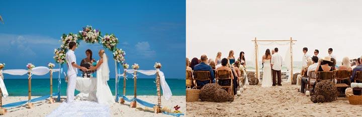 Варианты свадеб на пляже