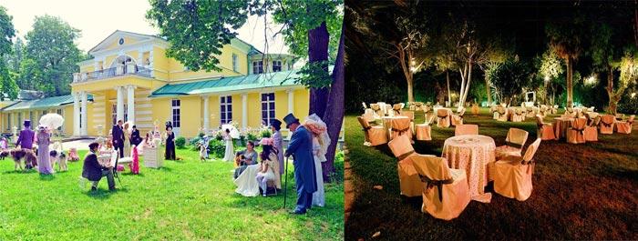 Стиль для свадьбы в усадьбе