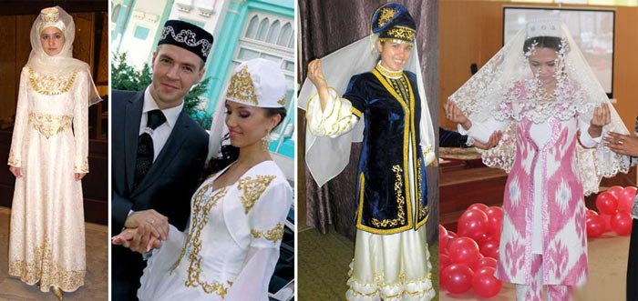 Узбекские костюмы на свадьбу