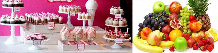 Фрукты и мороженое на свадьбу