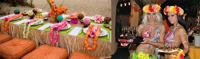 блюда для гавайской вечеринки