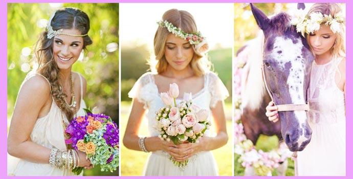 Образы невесты в стиле хиппи