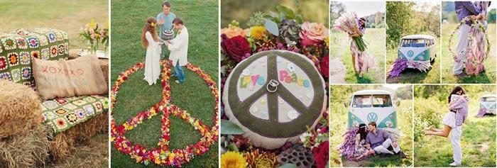 Декор свадьбы в стиле хиппи