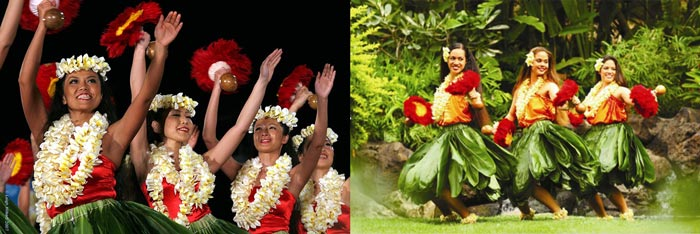 Танцы гавайской вечеринки