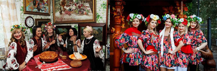 Русский народный стиль девичника