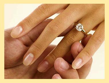 Надевание кольца