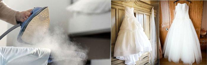 Глажка свадебногго платья