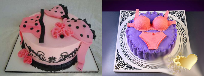 Торт с нижним бельем