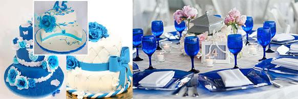 Свадебные торты и декор стола на 45 лет свадьбы