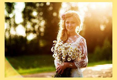Невеста с ромашками