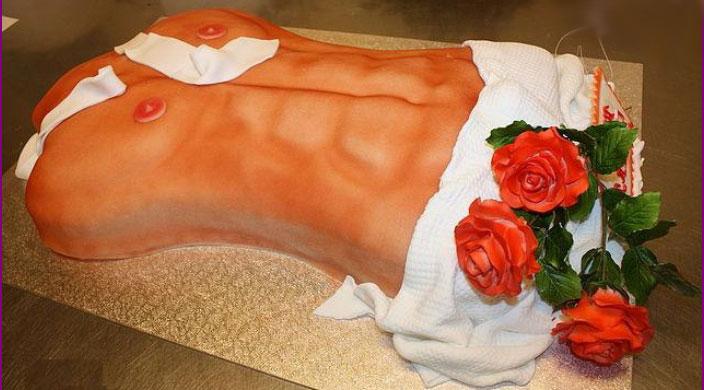 Торт голый мужской торс
