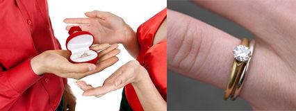 Ношение двух колец на безымянном пальце