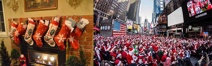 Рождество, носочки и костюмы