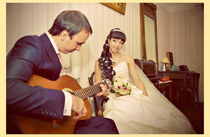 Молодожены и свадьба дома
