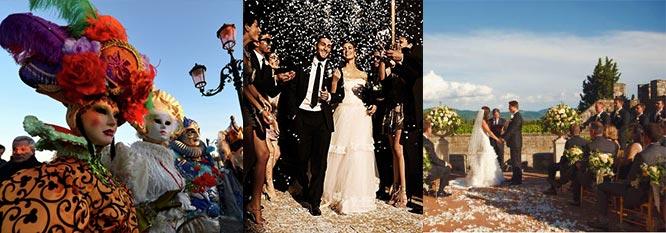 Сценки свадьбы в итальянском стиле