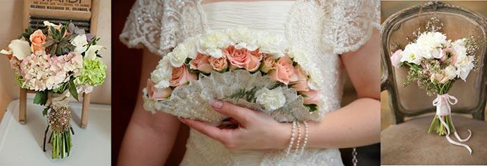 Ретро букеты невесты