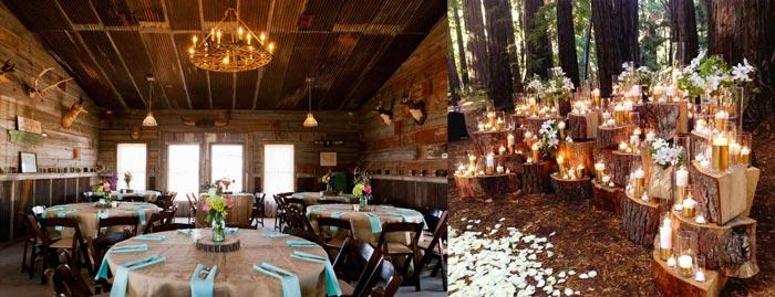 Деревенская свадьба в кафе и на природе
