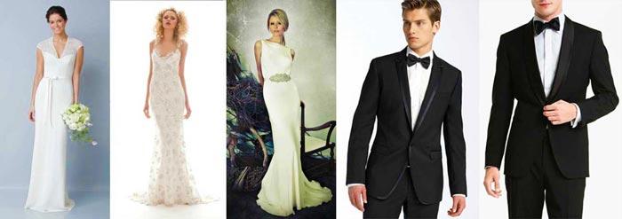 Образы жениха и невесты в стиле голливуд
