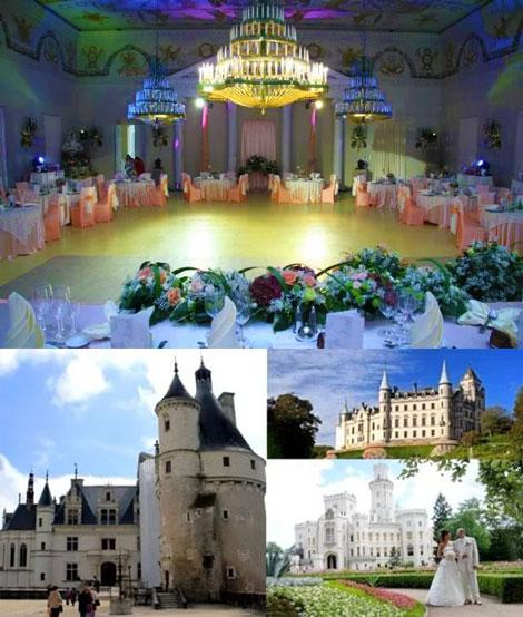 Замки и ресторан для свадьбы