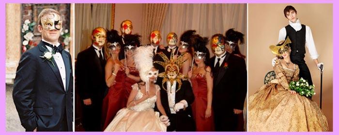 Наряды на венецианской свадьбе