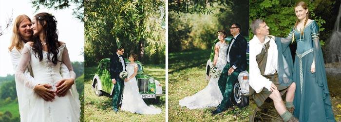 Наряды жениха и невесты в ирландском стиле
