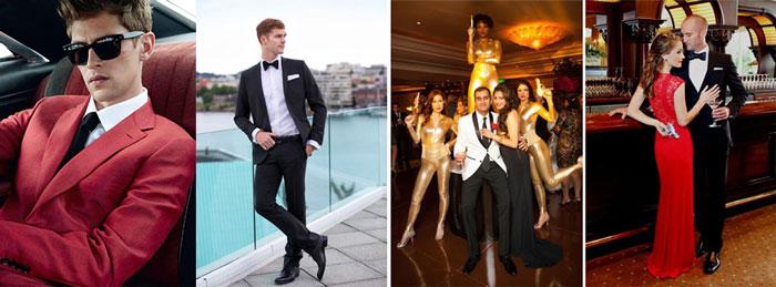 Наряды на свадьбе в стиле агента 007