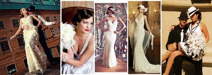 Свадебные наряды в стиле Чикаго