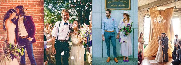 Наряды в стиле лофт на свадьбу