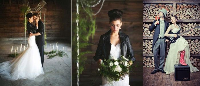Наряды рок-н-ролл невесты и жениха