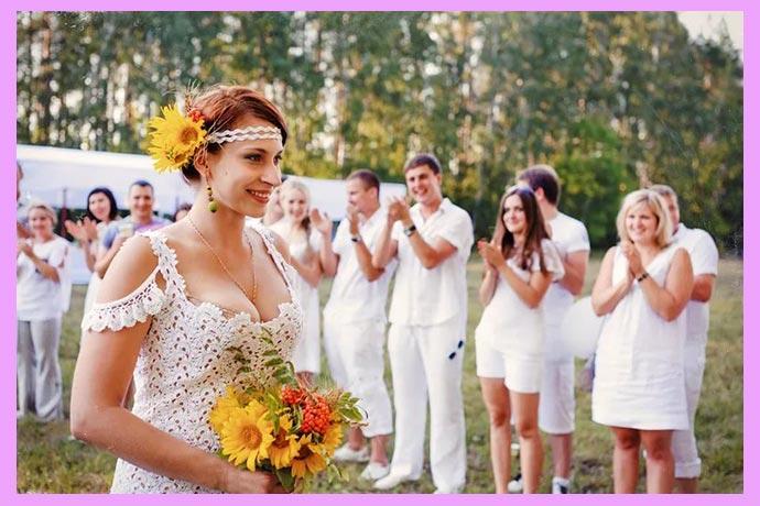 Невеста деревенский стиль
