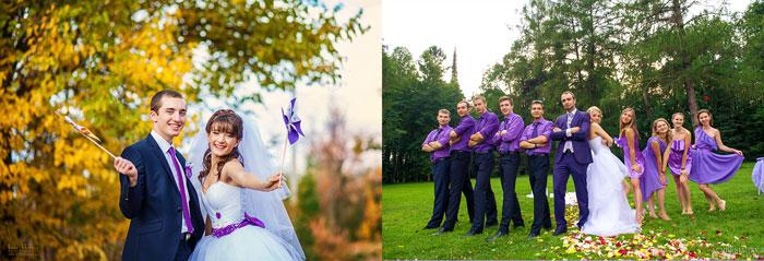 Наряды на свадьбе в сиреневом цвете