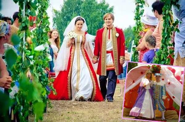 Жених и невеста в стиле сказки