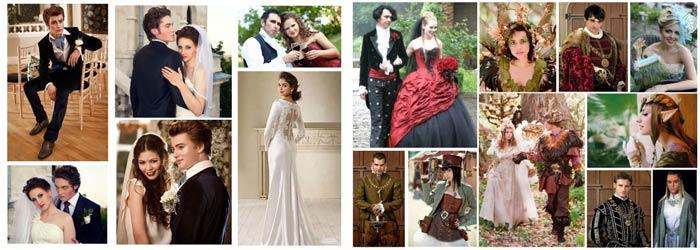 Наряды жениха и невесты в стиле кино
