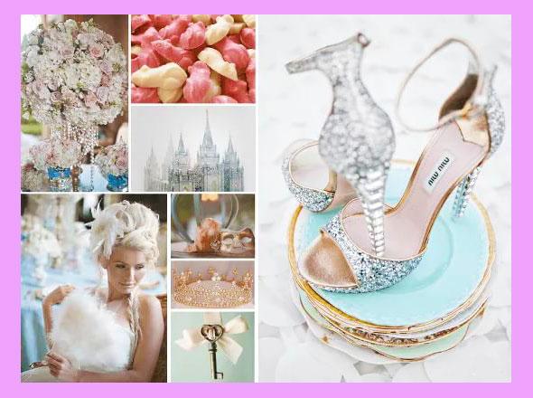 Туфли и аксессуары для невесты в стиле золушка