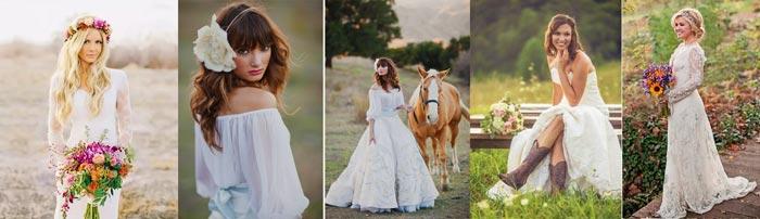 Невеста в деревенском стиле