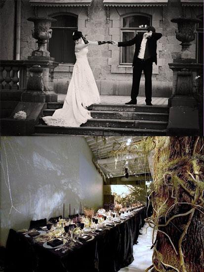 Готический стиль свадьбы
