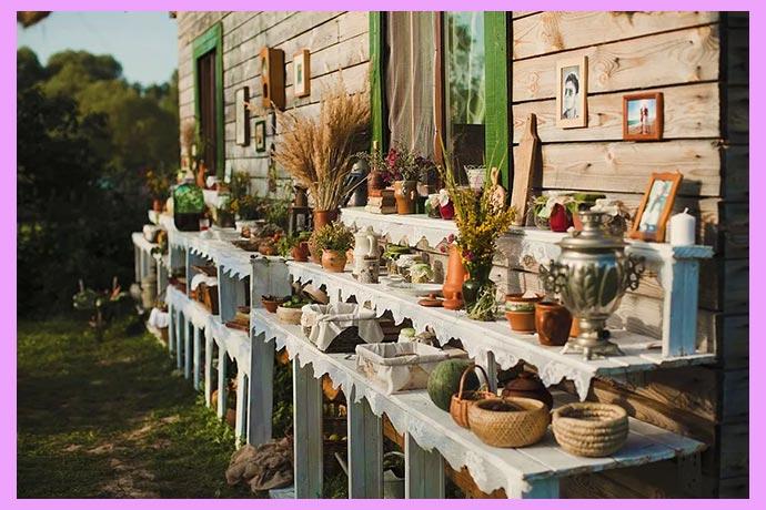 Свадебный деревенский декор