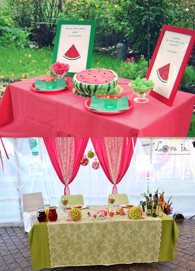 Свадебный арбузный декор