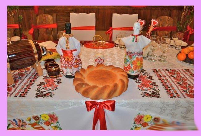 Свадебный славянский декор