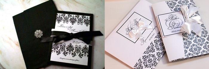 Приглашения на свадьбу в черном
