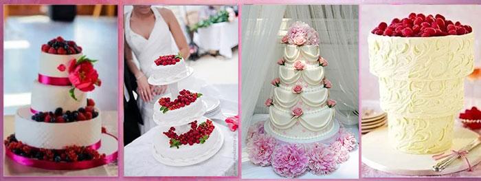 Свадебные торты с матиновыми тонами
