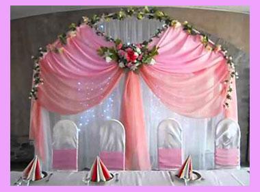Бело-розовый декор свадьбы